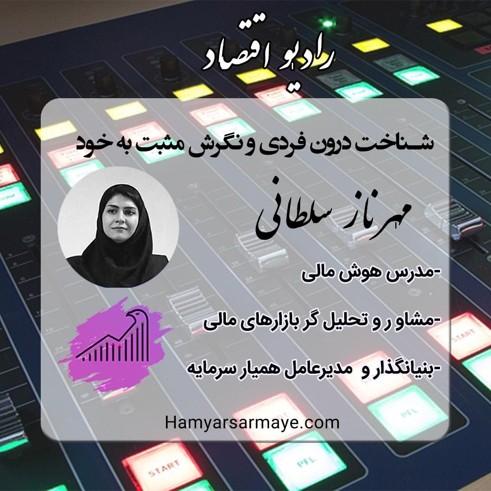 مصاحبه مهرناز سلطانی با رادیو اقتصاد