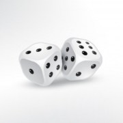two dices white background 1017 9453